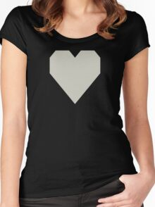 Pastel Gray Women's Fitted Scoop T-Shirt
