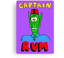 Captain Rum Canvas Print