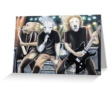 Heavy Metal Dog Band Greeting Card