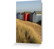Beach Huts, Southwold, Suffolk Greeting Card