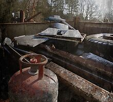 Winter Morning in a Suffolk scrapyard by Christopher Cullen
