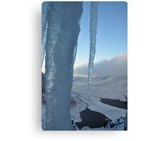 Ice overlooking Hags Glen Canvas Print
