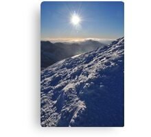 Snow and Sun high on Carrauntohil (Corrán Tuathail) Canvas Print