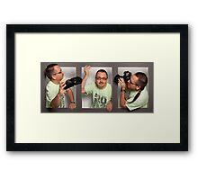 Three Photographers Framed Print