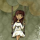Hannah on a Swing by Rencha