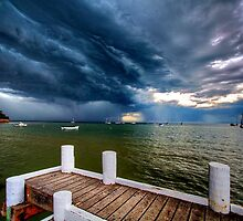Storm front approaching Cameron's Bight (2) by Keith Stead
