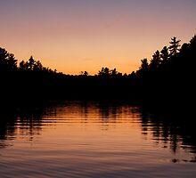Killarney: Sunset Silhouette,  Balsam Lake by Skye Hohmann