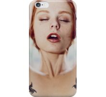 Inhale - cool sexy nude perfect woman erotic art calm happy beautiful cute pretty iPhone Case/Skin