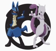 Lucario and Mewtwo Kids Clothes