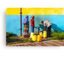 People collecting water in Nairobi, KENYA Canvas Print