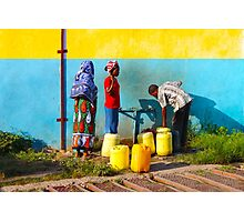 People collecting water in Nairobi, KENYA Photographic Print