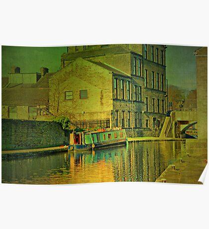 Canal At Skipton Poster