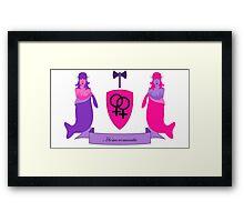 Homoromantic Crest (Women) Framed Print