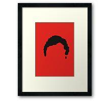 Red & Black Hair Framed Print