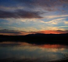 Sunset on Lake James by Christine Annas