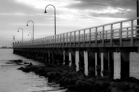 Port Melbourne Pier Before A Storm by Joanna Beilby