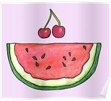 Watermelon Smile by Jayne Kitsch Poster