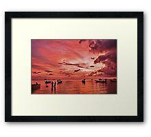 Thailand Sunset Framed Print