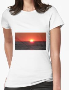 Orange Sun Womens Fitted T-Shirt