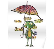 Froggy weather Poster