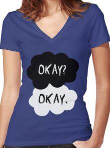 The Fault In Our Stars - Okay Women's Fitted V-Neck T-Shirt