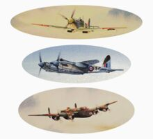 Spitfire Mosquito Lancaster Collage One Piece - Short Sleeve