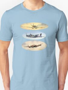 Spitfire Mosquito Lancaster Collage T-Shirt