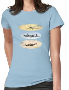 Spitfire Mosquito Lancaster Collage Womens Fitted T-Shirt