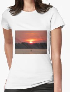 Sunset At Wrightsville Beach Womens Fitted T-Shirt