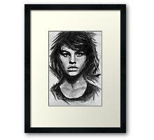 Barbara, charcoal sketch Framed Print