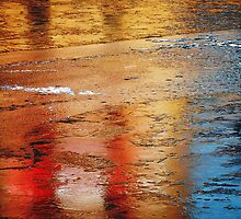 Reflections in ice abstract by buttonpresser