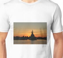Battleship At Sunset Unisex T-Shirt