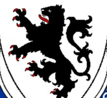 Coat of arms (family crest) for last-name or surname Hughes (Wales) . Heraldry banner for your name. Sticker