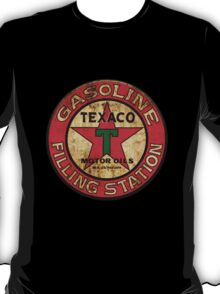 Texaco Filling Station Sign - Rusty T-Shirt