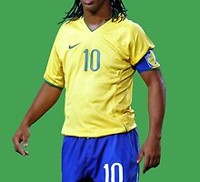 Ronaldinho with Brazil by SALSAMAN