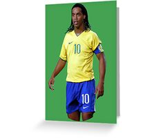 Ronaldinho with Brazil Greeting Card