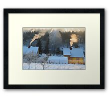 Santa Claus house in LITHUANIA Framed Print