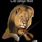 Music and the Beast: Lion and Violin by EyeMagined