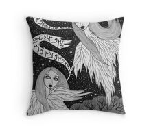 Two Ghosts Throw Pillow