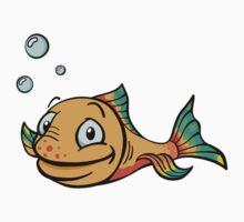 Cartoon fish Kids Tee