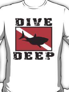 Shark SCUBA Flag Dive Deep T-Shirt