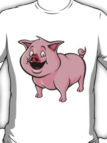 Happy cartoon pig T-Shirt