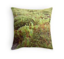 Moss Capsules Throw Pillow