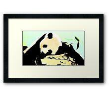Sleeping Panda Framed Print