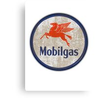 Mobilgas - Dirty Sign Canvas Print