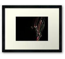 Coloured Light Trails Framed Print