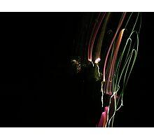Coloured Light Trails Photographic Print