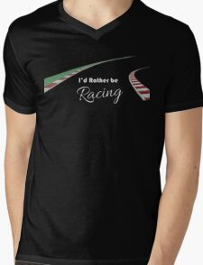 I'd rather be racing (black) Mens V-Neck T-Shirt