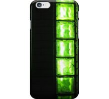 Decorative wall with green lights at night iPhone Case/Skin
