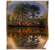 Color on Fall Lake Poster
